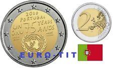 2 €   PORTUGAL   1  X  PIECE  COMMEMO   NATIONS  UNIES    2020   NOUVEAU  2020