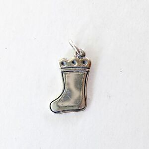 James Avery Christmas Stocking Charm Sterling Silver 925 Signed Engraveable