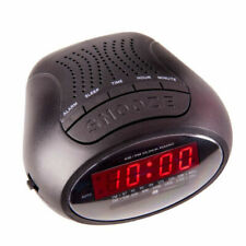 Laser AM/FM Alarm Clock Radio - Black (SPK-AC2018)