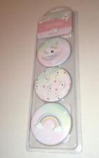 "3 Rainbows & UNICORNS Sticky Notes Pad Pink Hearts Pastel Fade Circular 2.5"" Ø"