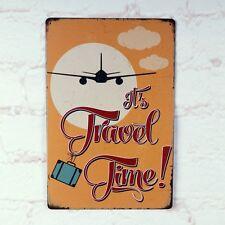 Antique Airplane Vintage Metal Tin Sign Bar Home Pub Wall Decoration