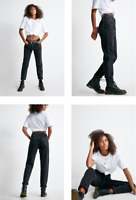 RRP - £ 55.00 BDG Black Mom Jeans, Size 30W / 32L