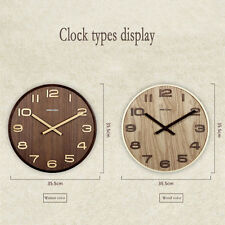 """14"""" Extra Large Round Wooden Wall Clock Vintage Retro Antique  Bentwood Style"""