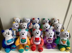 Limited Treasures 50 States of America Coin Bears - 35 Bears, NO coins
