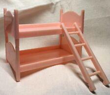 Best Bunk Beds (2) Ladder Pink Vintage Miniature Dollhouse Furniture EUC!