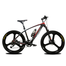 "Electric Bike 26"" S600 400W 36V Carbon Fibre Electric Mountain Bike Moped Bike"