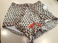 Juniors Japna Shorts Wrap Look Rayon Boho Tassles Lined  Medium
