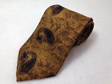 Hickey Freeman 1155 Collection USA 100% Silk Paisley  Mens Neck Tie Short