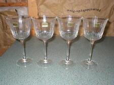 Luminarc GRAND MERIDIEN Optic Ribbed Wine Glasses Set of 4 NIB W/Labels