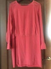see by chloe Red Orange Silk Dress Size 12