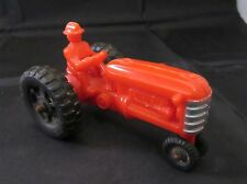 Vintage Hubley Kiddie Toy Red Plastic Tractor Made In USA