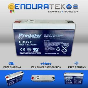 Predator ES670 AGM Battery - 6v 7Ah (UPS, ALARM, TOY CAR, GATE)