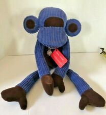 Monica Richards of London Doorbanger Doorstop MONKEY Blue Corduroy MCM DESIGN