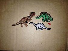 Vintage lot of Dinosaur Embroidered Patches T rex Allosaurus brontosaurus 12 pc
