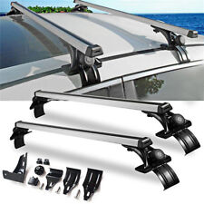 "Universal 48"" Car Top Roof Cross Bar Luggage Cargo Carrier Rack w/ 3 Kinds Clamp"