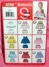 Uncut Butterick Baby Infant Toddler Sz L,XL Dress Panties Headband Pattern 6556