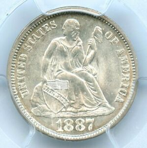 1887 Liberty Seated Dime, PCGS MS65