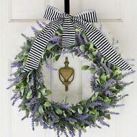 Artificial Door Hanging Lavender Flower Wreath Wall Garland Home/Wedding Decors