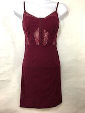 Intimately Free People Womens XS Corset Mini Dress Slip Dress Burgundy Bodycon