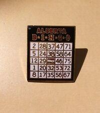 Canada Alberta Bingo Card Pin