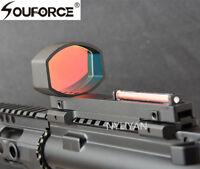 Optics 1x40 Red Fiber Dot Sight Holographic Scope For Shotguns Rib Rail Hunting