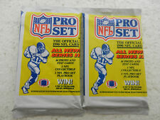 2 X NFL Pro Set Football Trading Card Pack Series 2 1990 New and Unopened!
