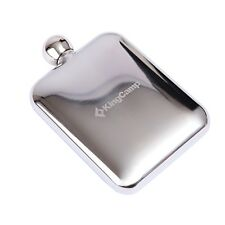 New Kingcamp 6 oz Hip Flask Stainless Steel Pocket Liquor Alcohol Whiskey Flask