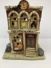 "Rare Vtg. Midwest Of Cannon Falls Creepy Hollow ""Blood Bank"" Lightup Figurine 7"""