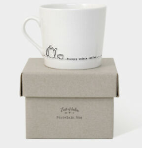 East of India Wobbly Mug Stroppy before Coffee - Gift for Coffee Lovers