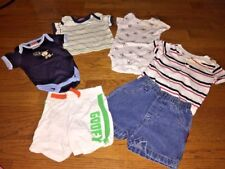 Lot Carters Disney Snugabye Garanimals Boys Sz 3/6 M Goofy Pants Red white blue
