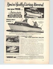 1958 PAPER AD Interstate Motor Boat 16' Sports Cruiser 2 Sleeper Twin Berth
