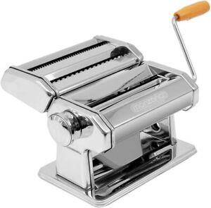 Hand Pasta Noodle Maker Machine Lasagne Spaghetti Cutter Roller Kitchen Silver