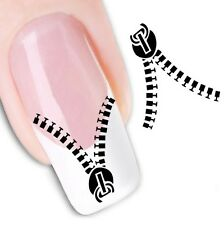 Nail Art Sticker Water Decals Transfer Stickers Decorative Art Zips (DX1268)