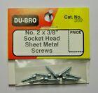 """DU-BRO NO. 2 X 3/8"""" SOCKET HEAD SHEET METAL SCREWS ( PACKAGE OF 8)( CAT. # 380 )"""