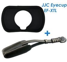 JJC EF-XTL Eyecup as EC-XT L +Genuine Leather Wrist Strap for FUJIFILM X-T1 X-T2