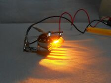 new bullet AMBER mini light with visor beach cruiser pedal car custom bike 12v