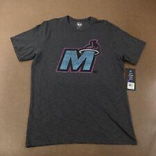 '47 Brand Miami Heat Mashup Scrum Men's Size Large Charcoal Gray T-Shirt NWT