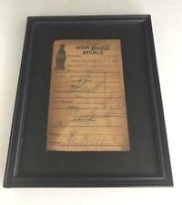 rare 1927 DICKSON TN Coca-Cola Bottling Co. Receipt 5 Cases $4.00 Telephone 18