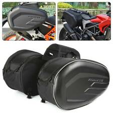 Pair Motorcycle Pannier Side Saddle Bags Luggage Rain Cover 36-58L Waterproof
