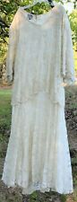 6X beaded off white wedding dress gown Carina Barry Lee