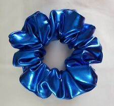 Shiny Metallic Blue Hair Scrunchie (Other colours available)