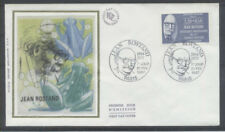 FRANCE FDC - 2458 1 JEAN ROSTAND - 21 Fevrier 1987 - LUXE sur soie