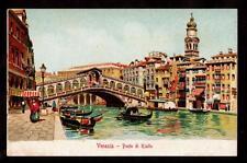 c.1905 ferd.gobbato gondola ponte di rialto venice Italy postcard