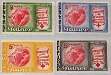 GUINEA 1963 204-07 309-11 C50 Intl. Red Cross Rotes Kreuz Satellite Globe MNH