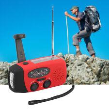 Emergency Hand Crank Generator Solar AM/FM/WB Radio Flashlight Charger BG