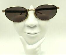 Vintage Adrienne Vittadini Av 177 Gold Metal Oval Sunglasses Frames Only