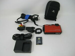 Nikon Coolpix AW100 Shockproof Waterproof Digital Camera W/ Charger, Battery