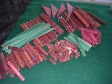 #C Lincoln Logs Vintage Lot 151 Pieces 1970s w/ Wood Trusses Building Toys