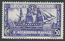 1931 REGNO REGIA ACCADEMIA NAVALE 50 CENT MH * - CZ20-5