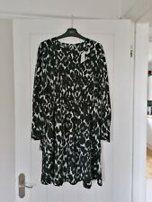 NEXT Monochrome Animal Print Long Sleeved layered Dress Size 6 8 New With Tags